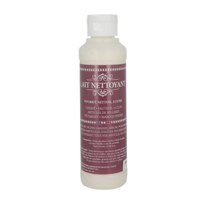 Lait nettoyant pour nettoyer, nourrir et lustrer le cuir - flacon de 250 ml