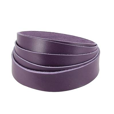 Sangle VIOLET - Veau lisse type BOX - Largeur 20 mm