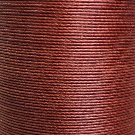 Cartonnette de 8m de fil de lin ciré MeiSi super fine M50 - 0,55 mm - MARRON - MS003