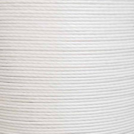 Bobine de 50m de fil de lin ciré MeiSi super fine M60 - 0,65 mm - BLANC - MS007