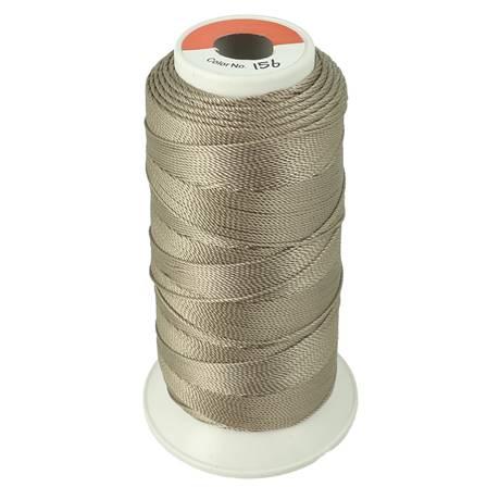 Bobine de fil polyester N°8 - 200 m - Taupe