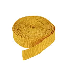 Ruban galon polyester JAUNE MOUTARDE - Largeur 16 mm - 5 mètres