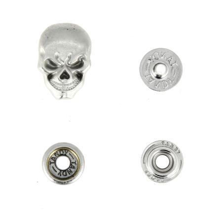 Bouton pression Skull - VIEUX NICKEL - TANDY LEATHER - LINE 24 : 15 mm