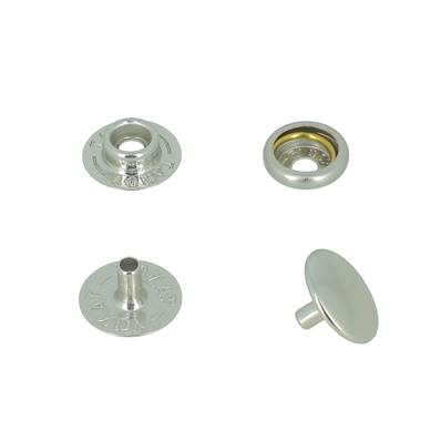 Lot de 10 boutons pression FORT en INOX - TANDY LEATHER - LINE 20 : 12,5 mm