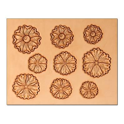 Calque réutilisable pour le transfert de motifs sur cuir - FLEURS #1