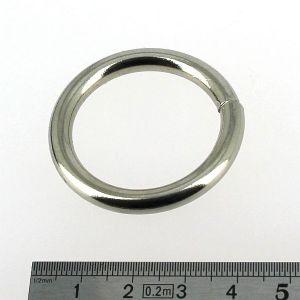 Anneau rond soudé - acier NICKELE - 30 mm - Fil 5 mm