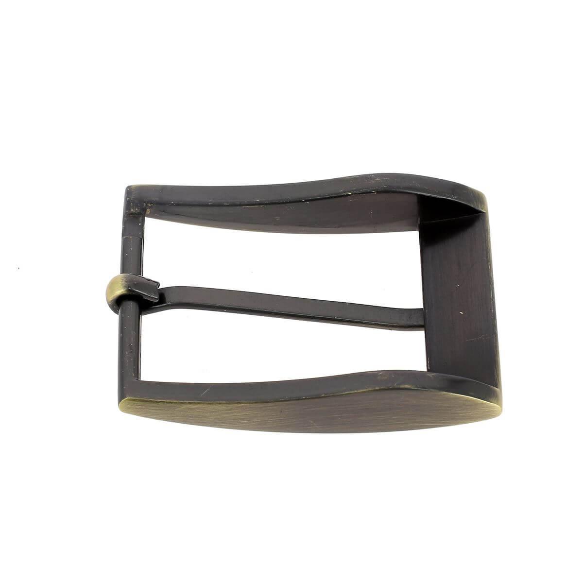 Boucle de ceinture ELI - LAITON VIEILLI BROSSE - 35 mm