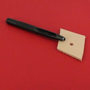 Emporte-pièce à frapper ROND manche DROIT - Diam 4 mm