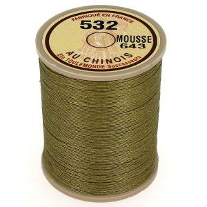 Bobine fil de lin au chinois câblé glacé - 532 - MOUSSE 643