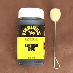 Teinture pour cuir FIEBING'S Leather dye - NOIR MAT - USMC BLACK
