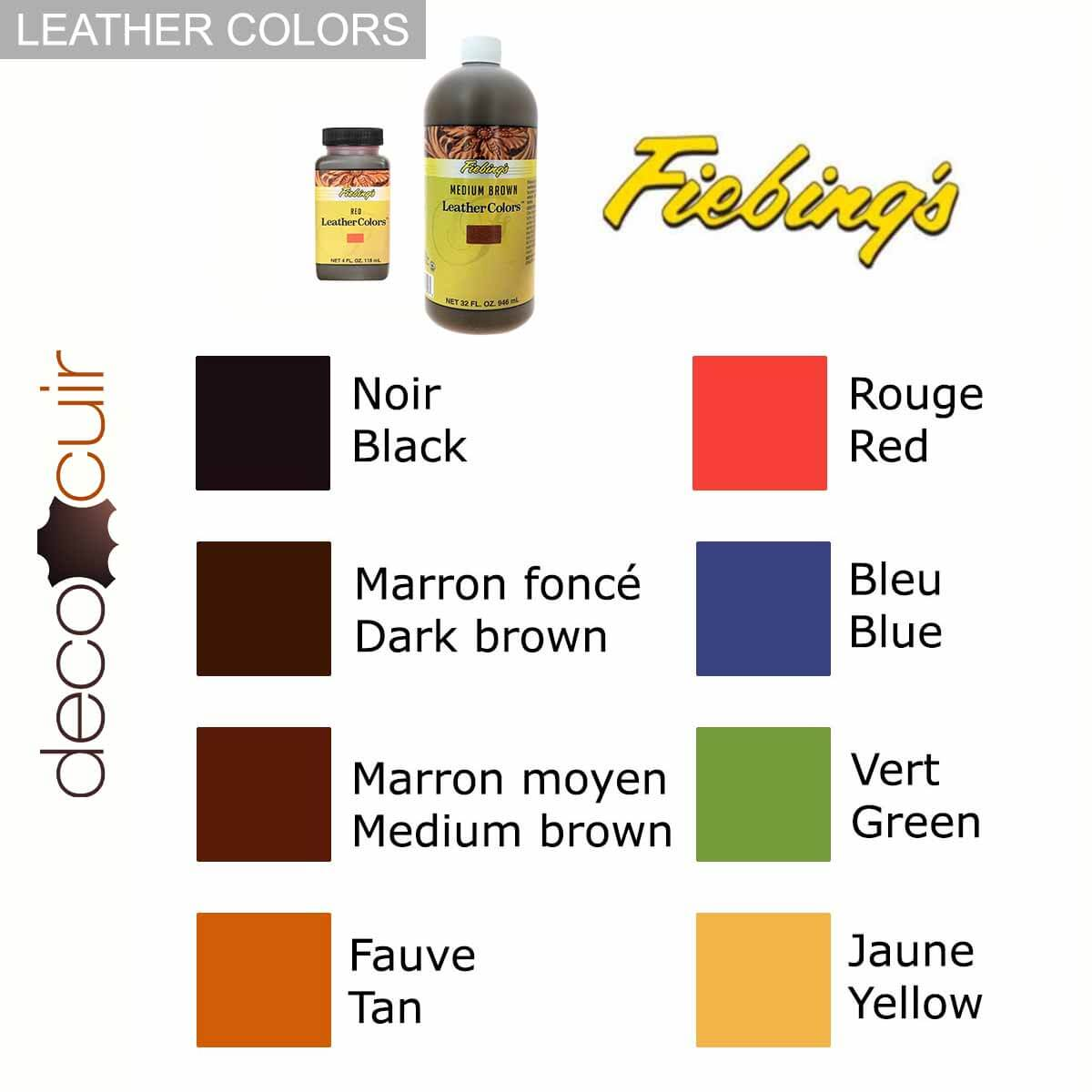Teinture pour cuir FIEBING'S LEATHER COLORS - Institutional - NOIR - BLACK