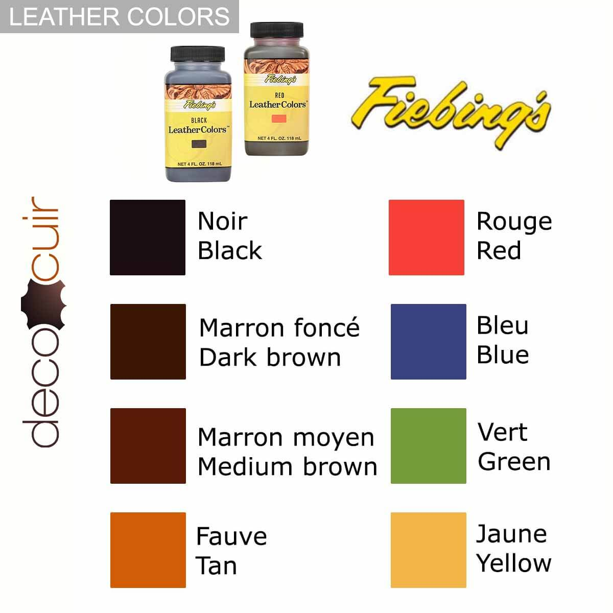 Teinture pour cuir Institutional - Fiebing's Leather Colors - 118ml