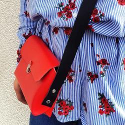 KIT COMPLET - Ma première pochette en cuir rouge