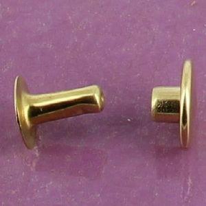Lot de 100 rivets moyen en laiton (T4) finition laiton