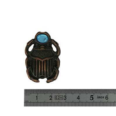 Concho SCARABEE - 25 x 36 mm - Vieux cuivre