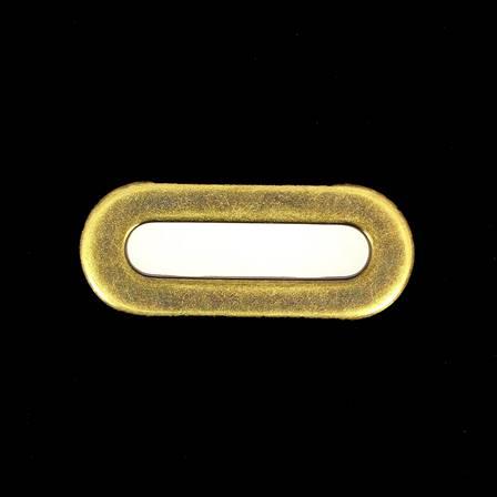 Lot de 25 œillets à griffe ovale - LAITON VIEILLI - 40x9 mm