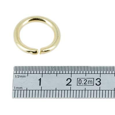Anneau rond - acier DORE - 12 mm - Fil 2,5 mm