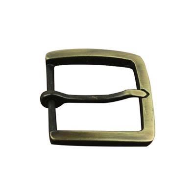 Boucle de ceinture à ardillon - Carré - LAITON VIEILLI SATINE - 45 mm