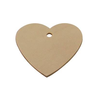 Découpe GRAND COEUR pour porte clés en cuir naturel à personnaliser