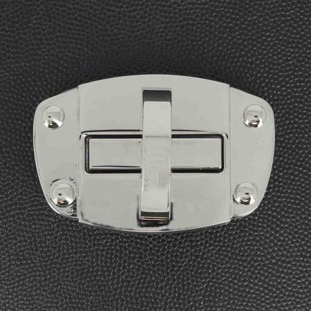 Fermoir plaque pour sac - NICKELE - 62x40 mm