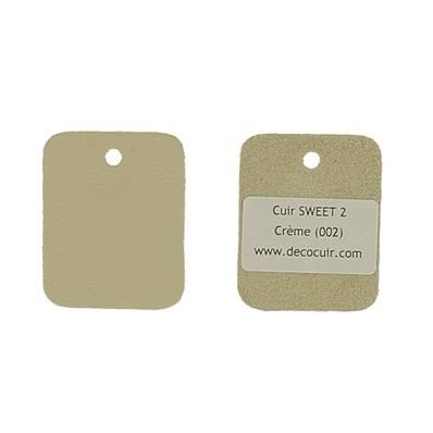 Un échantillon de cuir de vachette SWEET 2 - CREME