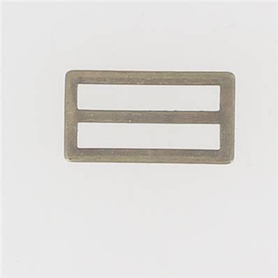 Passant double rectangulaire et plat - Laiton Vieilli - 30 mm