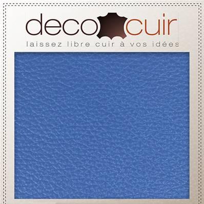 Morceau de cuir GRANITE - BLEU OCÉAN - 15x20 cm - Ép 1,4 mm
