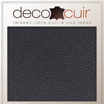 Morceau de cuir GRANITE - NOIR - 15x20 cm - Ép 1,4 mm