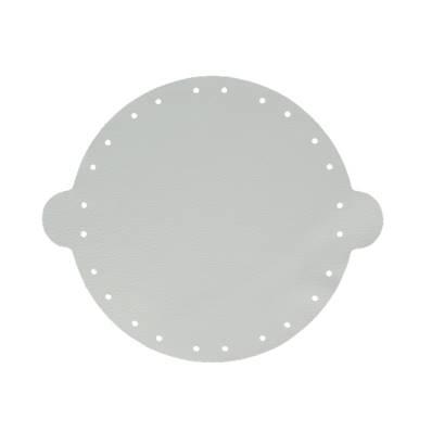 Cuir déja coupé pour faire une bourse en cuir GRIS CLAIR - Diamètre 20 cm