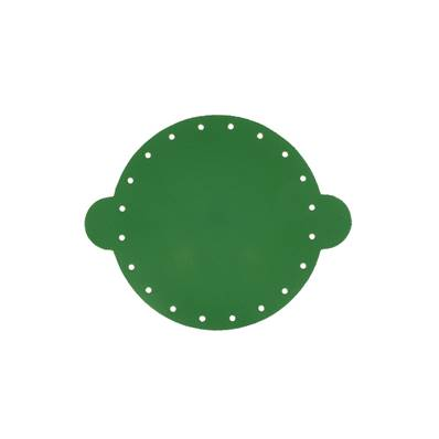Cuir déja coupé pour faire une bourse en cuir VERT - Diamètre 14,5 cm