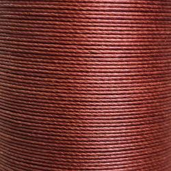 Bobine de 90m de fil de lin ciré MeiSi super fine M40 - 0,45 mm - MARRON - MS003