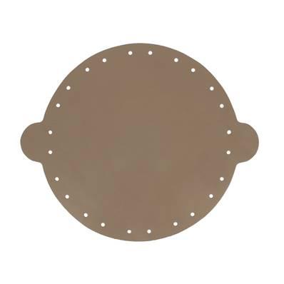Cuir déja coupé pour faire une bourse en cuir TAUPE - Diamètre 20 cm
