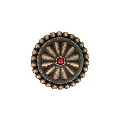 Concho GENEVRIER - 19 mm - Vieux cuivre