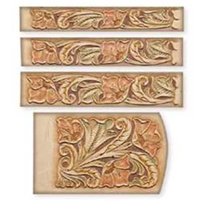 Calque réutilisable pour le transfert de motifs sur cuir - Ceintures et porte-clés FLORAUX