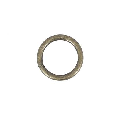 Anneau rond soudé - acier LAITON VIEILLI - 30 mm - Fil 5 mm