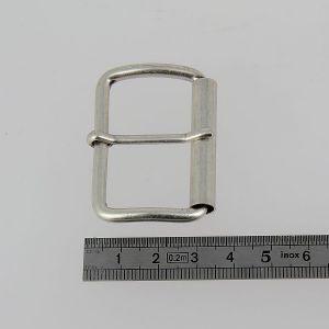 Boucle à rouleau à ardillon - ARGENT VIEILLI - 40 mm