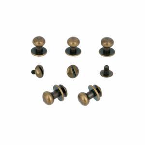 Lot de 5 boutons de col à vis T5 - Laiton vieilli avec vis 3x5mm