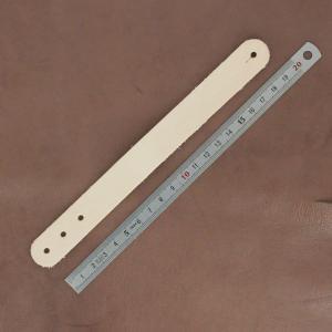 Découpe pour BRACELET en cuir naturel à personnaliser - taille ENFANT - 20 x 2 cm