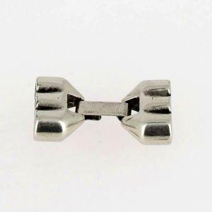 Fermoir bijou - Fermeture clip - Argent vieilli - 3 lacets ronds 5 mm