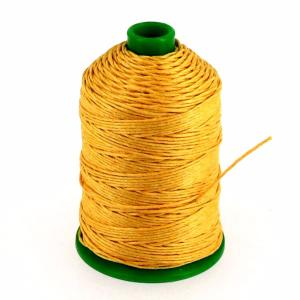 Bobine fil de lin satiné CAMPBELL'S - 232 - d = 0,76 mm - JAUNE