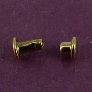 Lot de 100 petits rivets DOUBLE CALOTTE en laiton (T1) finition Laiton