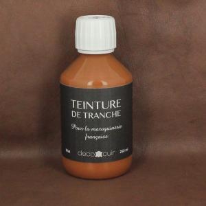 Finition de tranche FAUVE MAT pour cuir - Deco Cuir - 250 ml