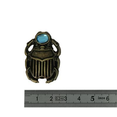 Concho SCARABEE - 25 x 36 mm - Laiton vieilli