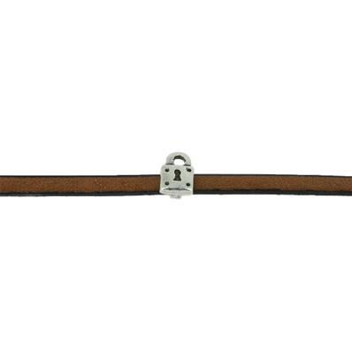 Coulissant CADENAS - Lanière de 5 mm - ARGENT VIEILLI