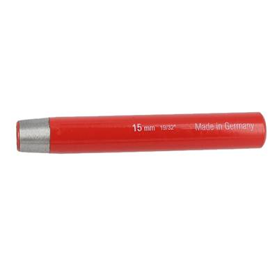 Emporte pièce à frapper ROND manche DROIT - diam : 15 mm