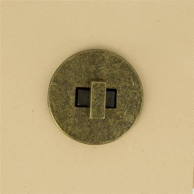 Fermoir pour sac ROND - LAITON VIEILLI - 35 mm
