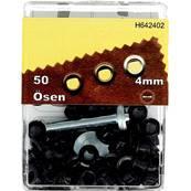 Kit Oeillets en étoile et outil de pose - 4 mm - NOIR