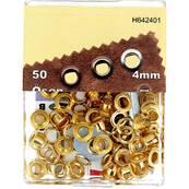 Kit Oeillets en étoile et outil de pose - 4 mm - DORE