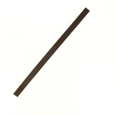 Lanière de collet végétal CHOCOLAT - 30x1,5 cm - Ep 1,9 mm
