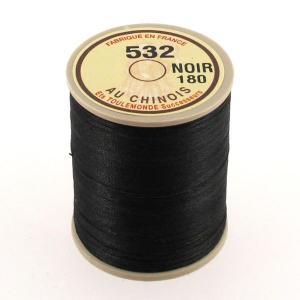 Bobine fil de lin au chinois câblé glacé - 532 - NOIR 180